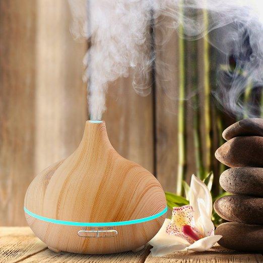VicTsing Natural Wood Grain Cool Mist Aroma Diffuser