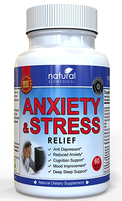 ANTI ANXIETY PILLS & STRESS RELIEF SUPPLEMENT Natural Capsules Calm Emotion Ease Panic Attack for Social Anxiety Disorder Depression Meds Relaxation