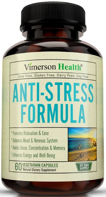 Stress Relief & Natural Anti Anxiety Supplement by Vimerson Health