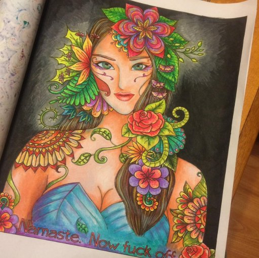 adult coloring book example