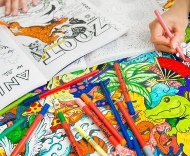 best stress relief coloring books
