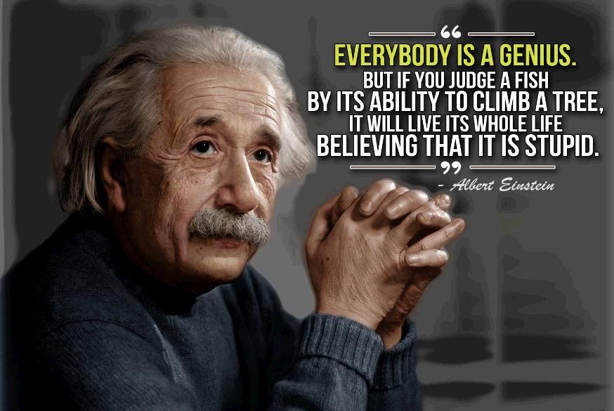 einstein everybody is genius quote