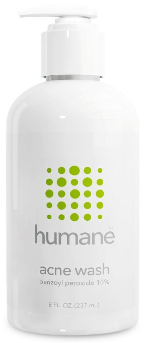 Humane Benzoyl Peroxide Acne Treatment Body Wash