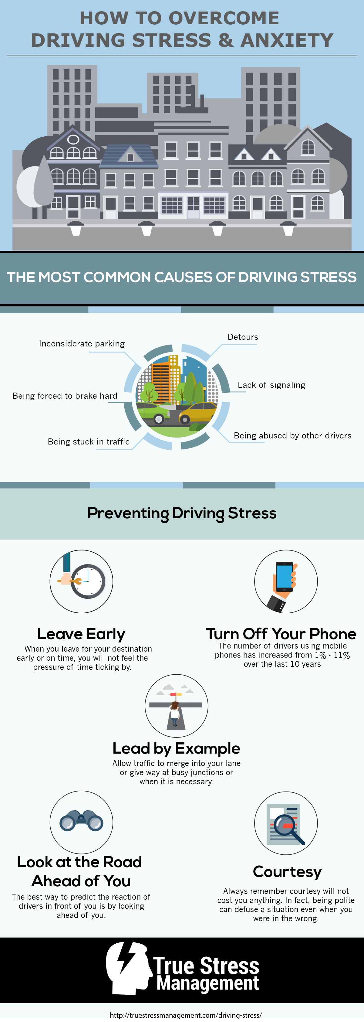 driving stress infographic