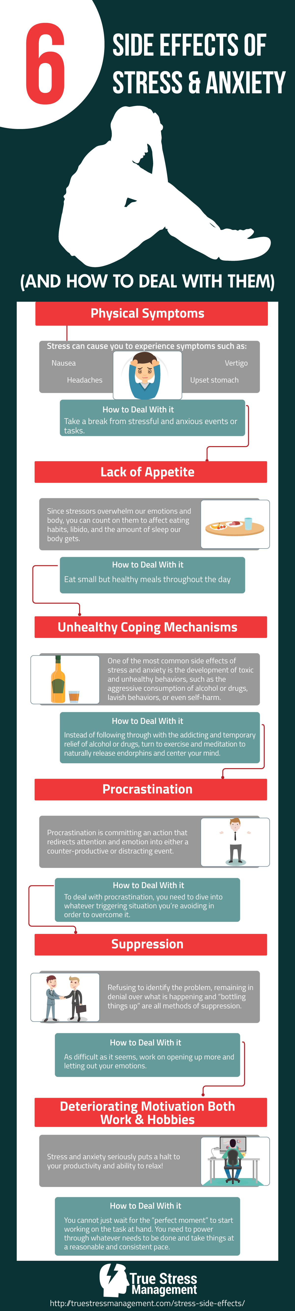 stress anxiety side effects infographic