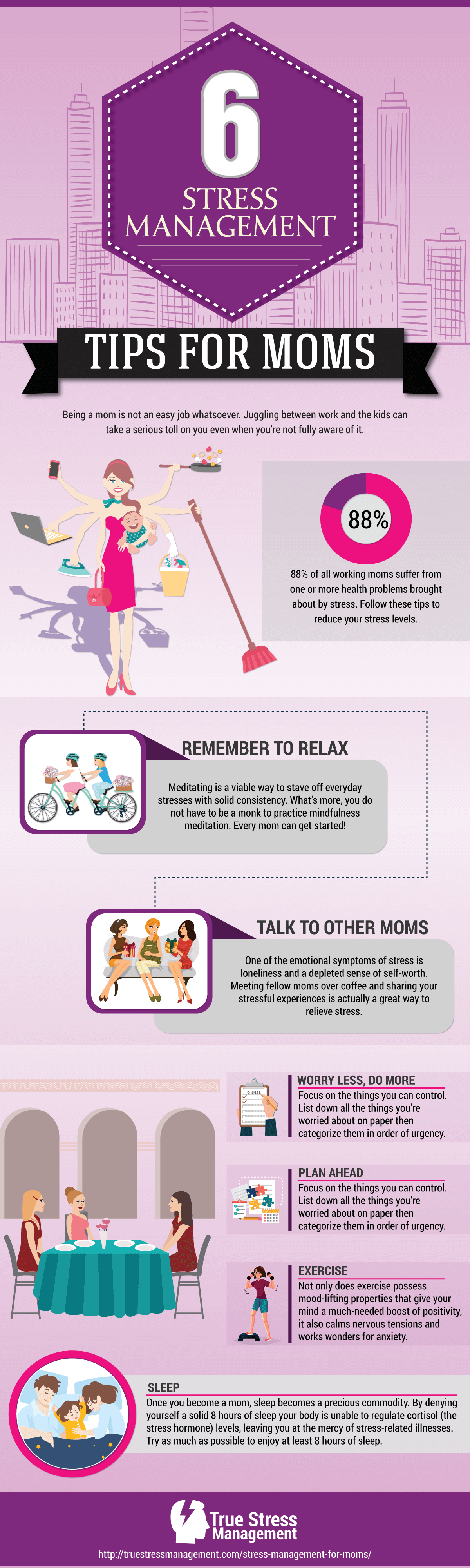 stress management for moms infographic