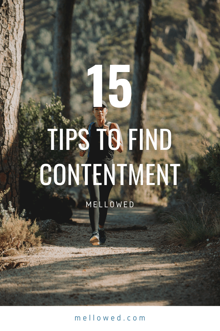 how to be content - pinterest pin