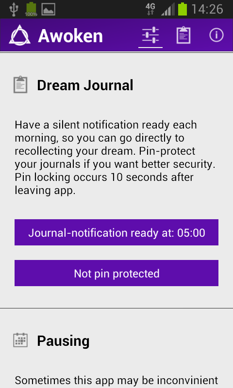 Awoken dream app