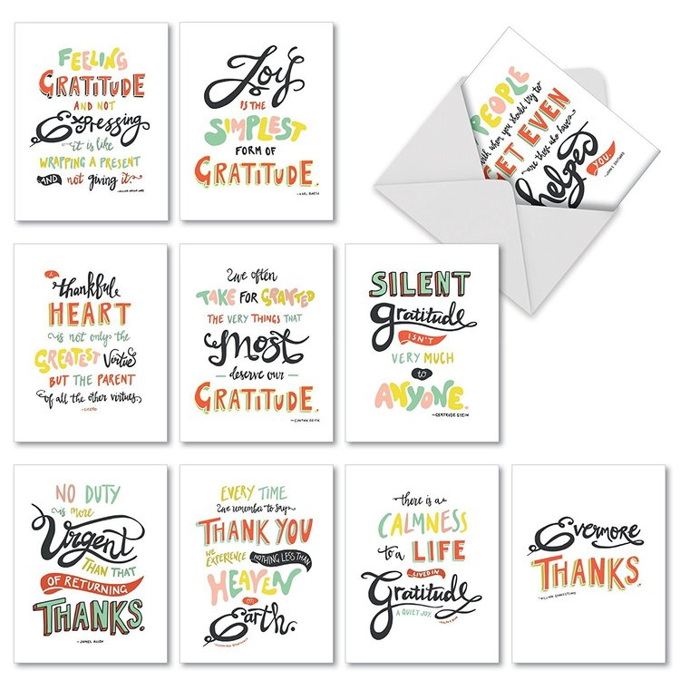 words of appreciation thank you cards