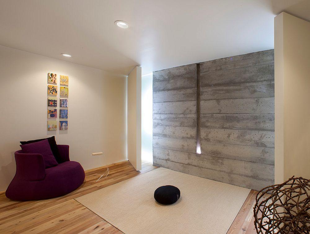 minimalist meditation room