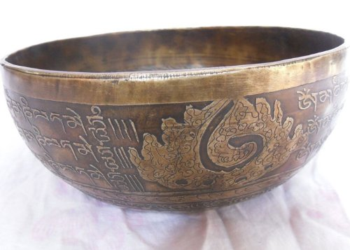 NHH Healing Mantra Carved Meditation Tibetan Singing Bowl