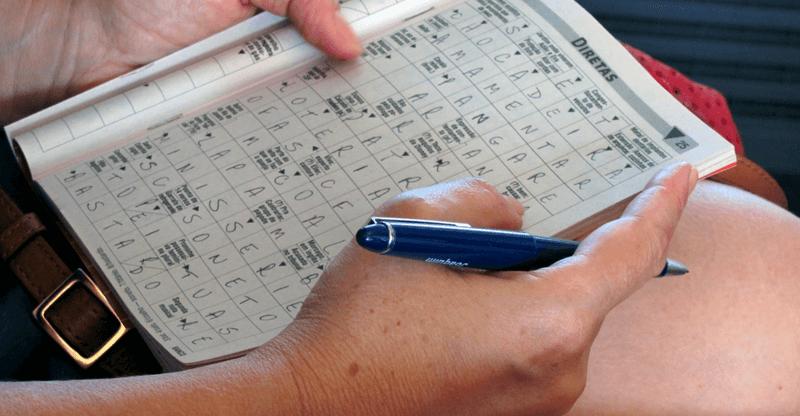 stress relieving hobbies - crossword puzzle