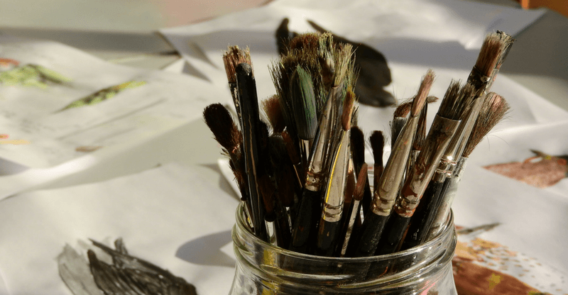 stress relieving hobbies - painting