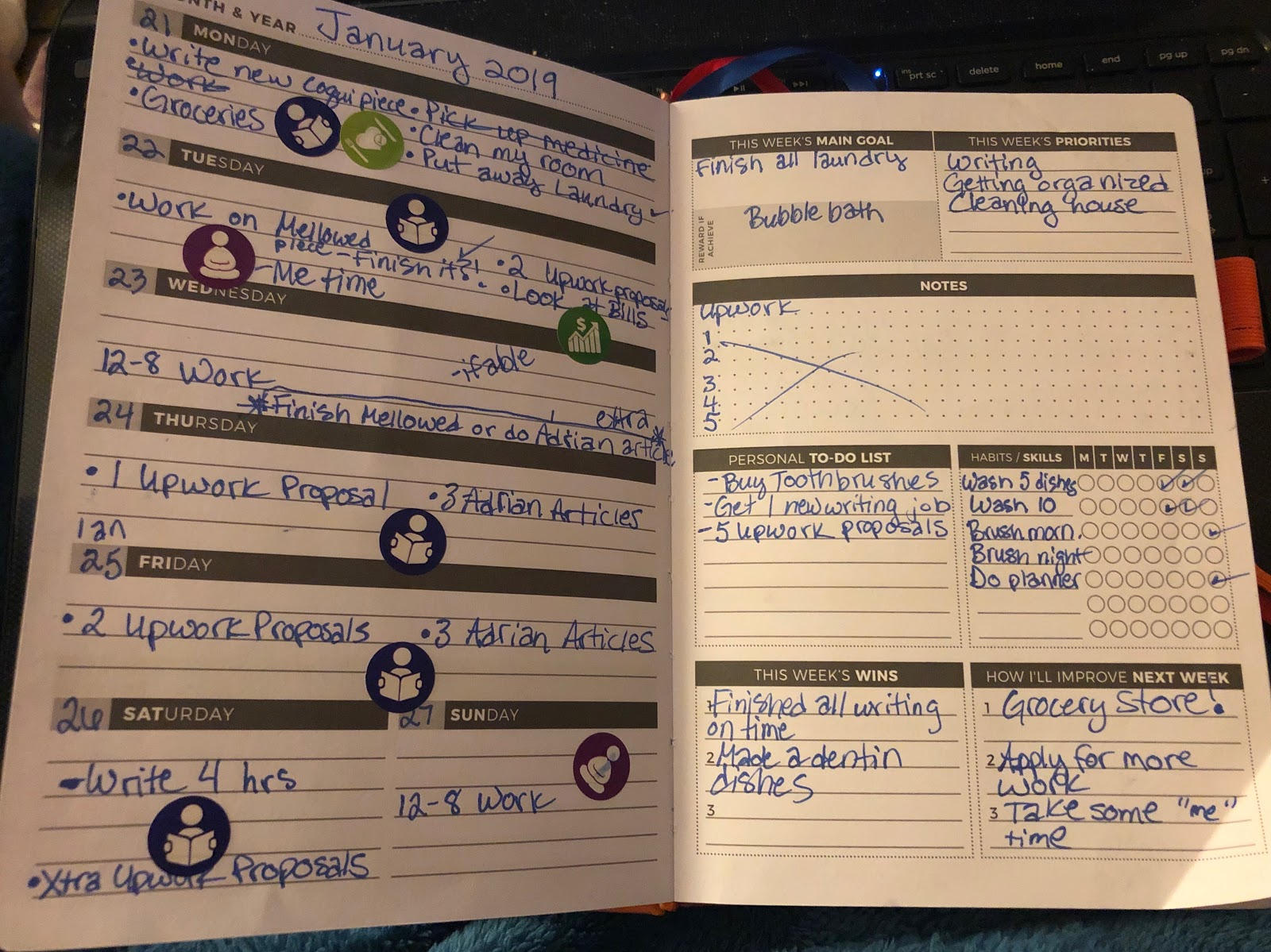 clever fox planner weekly plan