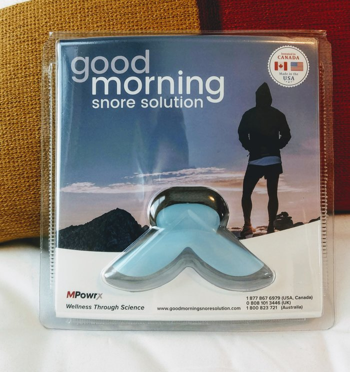 good morning snore solution packaging