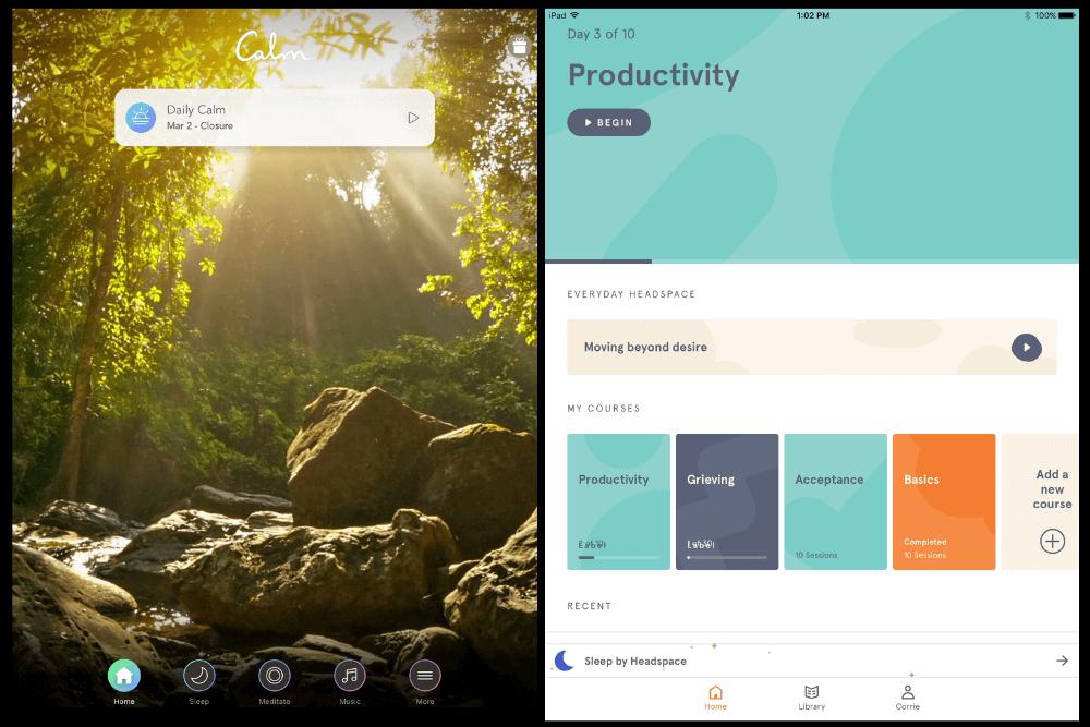 Calm vs  Headspace: Meditation App Showdown