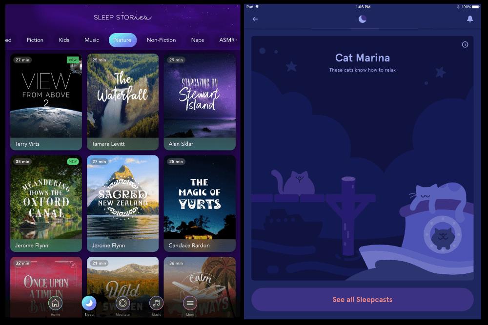 Calm vs Headspace sleep Feature