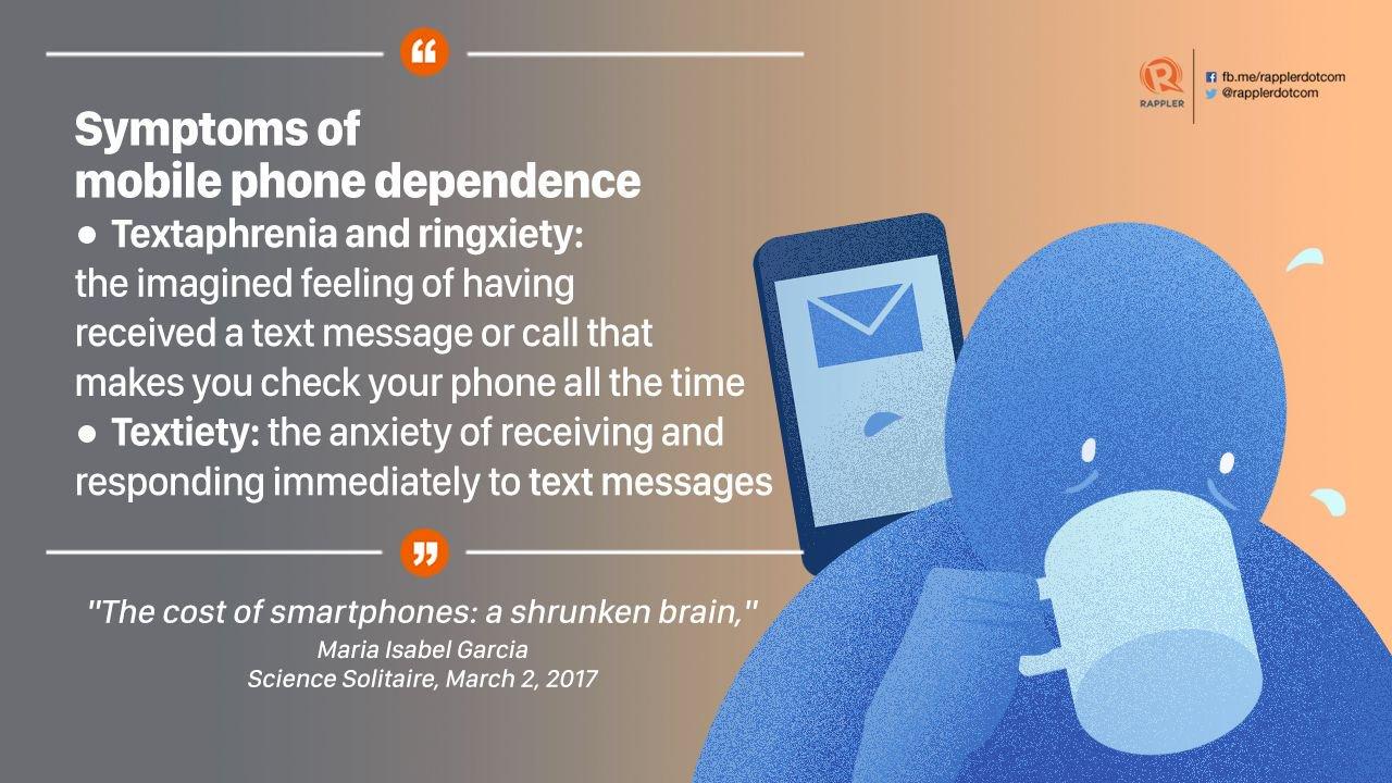 symptoms of phone dependence