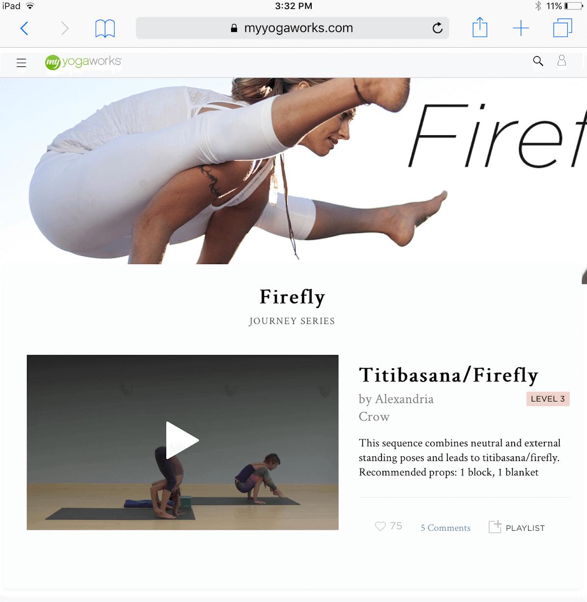 MyYogaWorks Advanced Yoga Classes